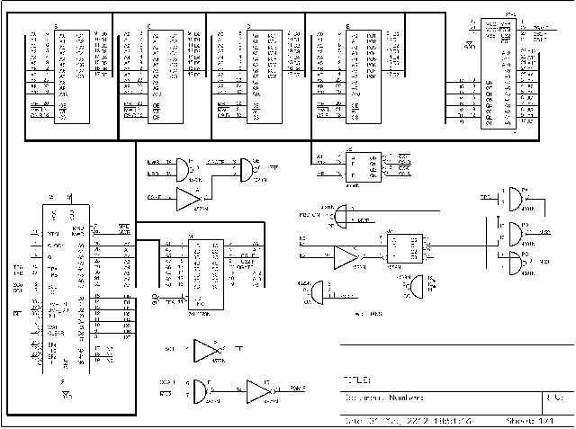 MicroWriter Reverse-Engineered Schematic, Eagle-ized. (Click to view.)